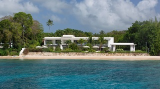 Alaya villa on the beach in Barbados as seen from the Caribbean sea