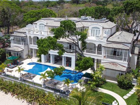 Kiko Villa in Barbados as seen from the air